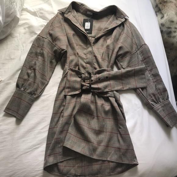 Fashion Nova Dresses & Skirts - Fashion Nova x Cardi B Plaid belted dress